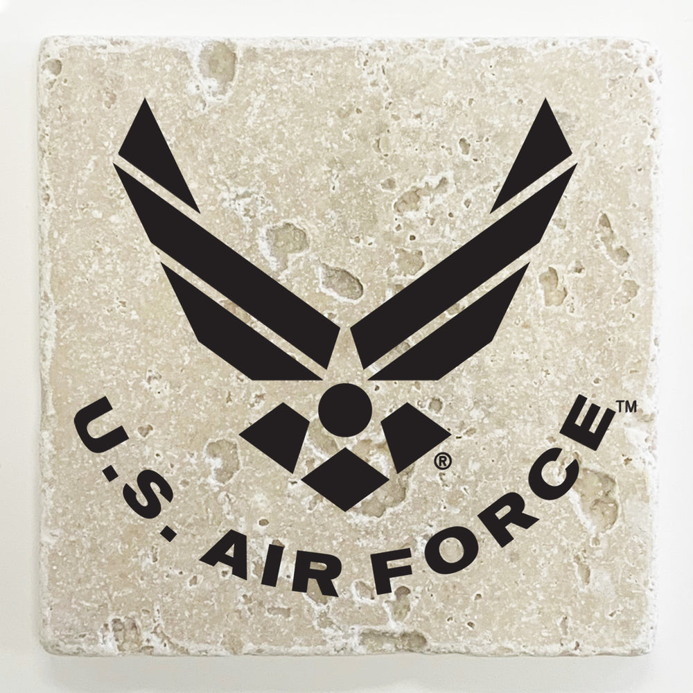 U. S. Air Force Travertine Stone Coasters - Set of 4