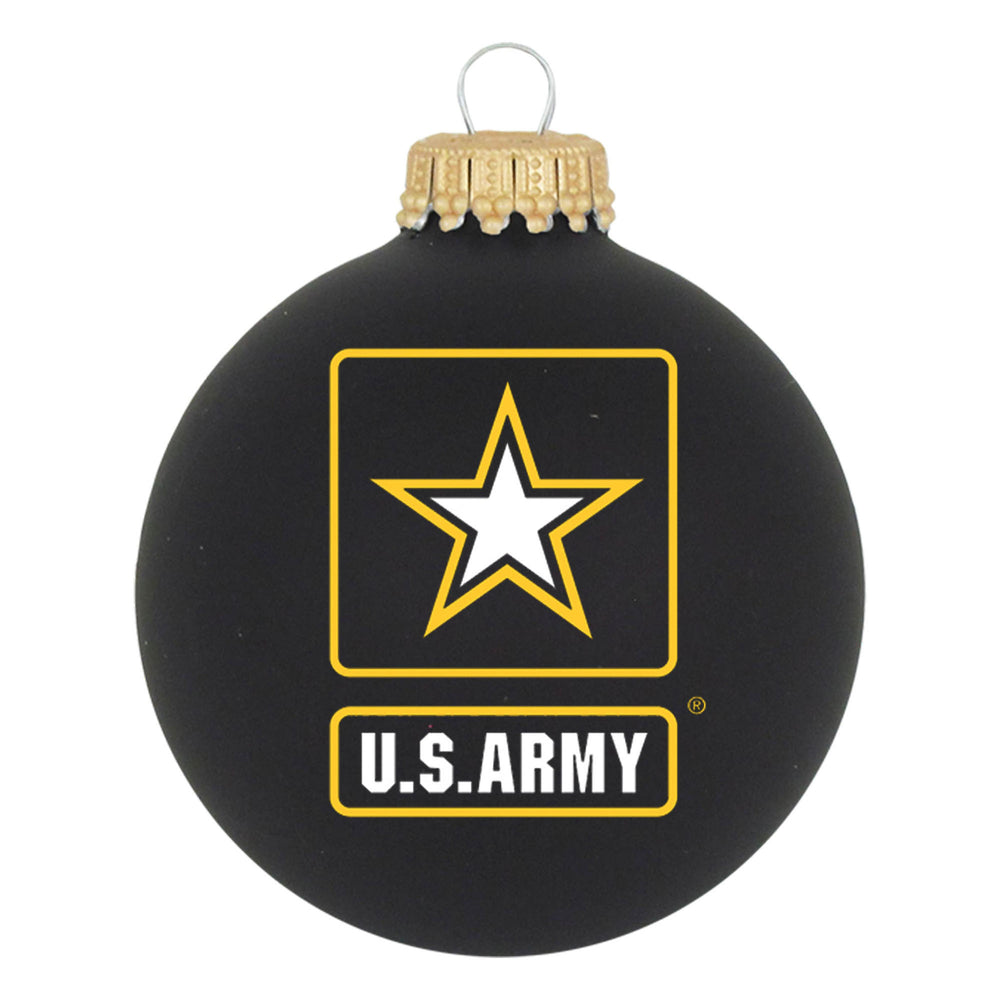 "Personalized ARMY 3.25"" Military Glass Ornament"