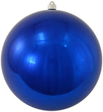 Shiny Blue Shatterproof Large Christmas Ornaments
