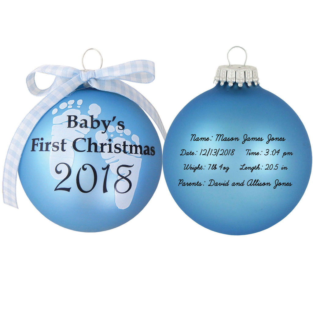 2018 babys first personalized ornament - Baby Boy First Christmas Ornament