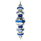 Blue and silver Finial large Christmas ornament