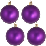 "4 Pack - 4"" (100mm) Commercial Grade Indoor Outdoor Matte Finish Shatterproof Plastic Ball Ornaments"