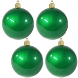 "4 Pack - 4"" (100mm) Commercial Grade Indoor Outdoor Candy Finish Shatterproof Plastic Ball Ornaments"
