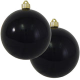 "2 Pack - 6"" (150mm) Shiny Finish Commercial Grade Indoor Outdoor Shatterproof Plastic Ball Ornaments"