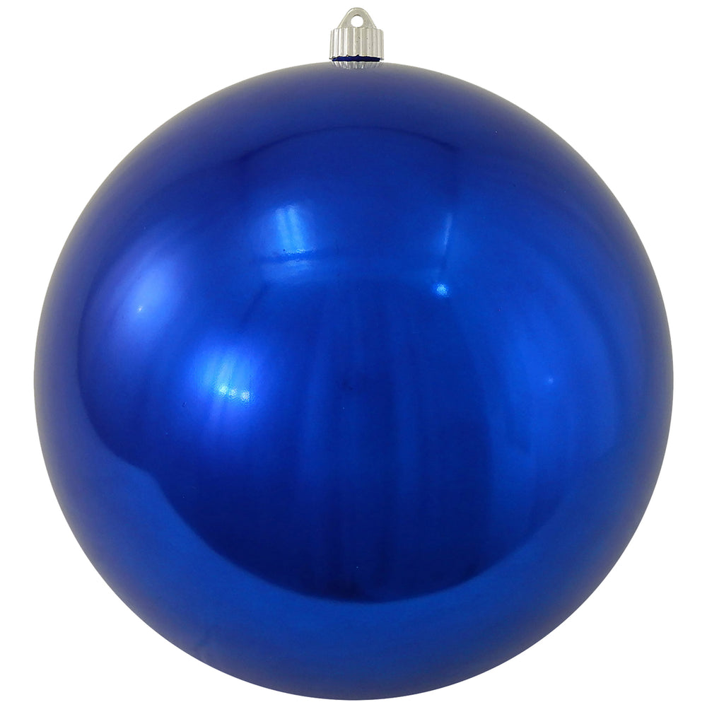 shiny blue round shatterproof large christmas ornaments