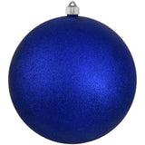 Dark Blue Glitter Shatterproof Large Christmas Ornaments