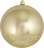 Gold Shatterproof Large Christmas Ornaments