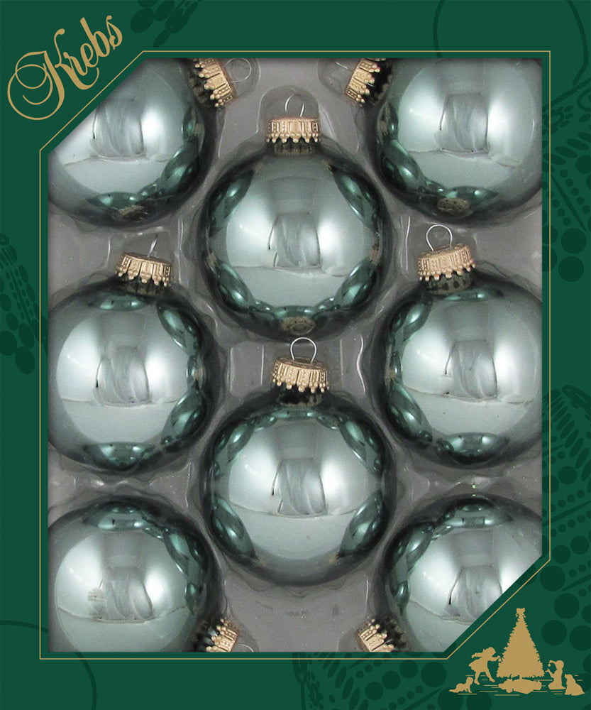 "2 5/8"" (67mm) Made in the U.S.A Designer Dark Colored Glass Ornaments"