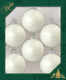 "2 5/8"" (67mm) Made in the U.S.A Designer Decorated Light Colored Glass Ornaments"