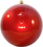 Candy Red Round Shatterproof Large Christmas ornament