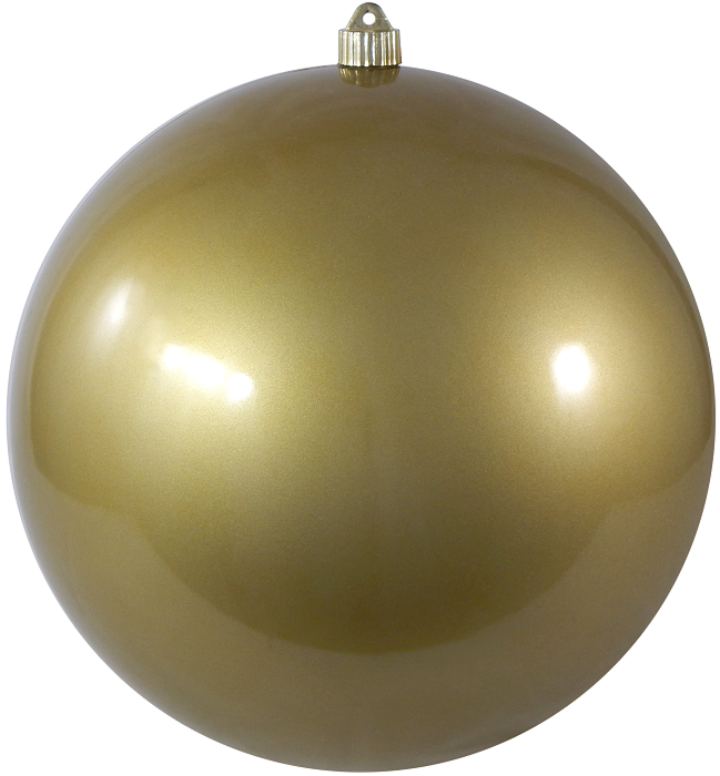 Candy Gold Round Shatterproof Large Christmas ornament