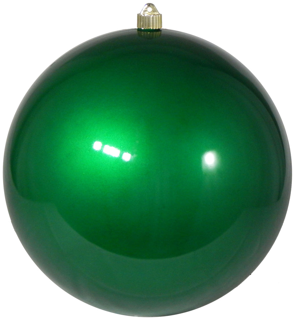 Candy Green Round Shatterproof Large Christmas ornament
