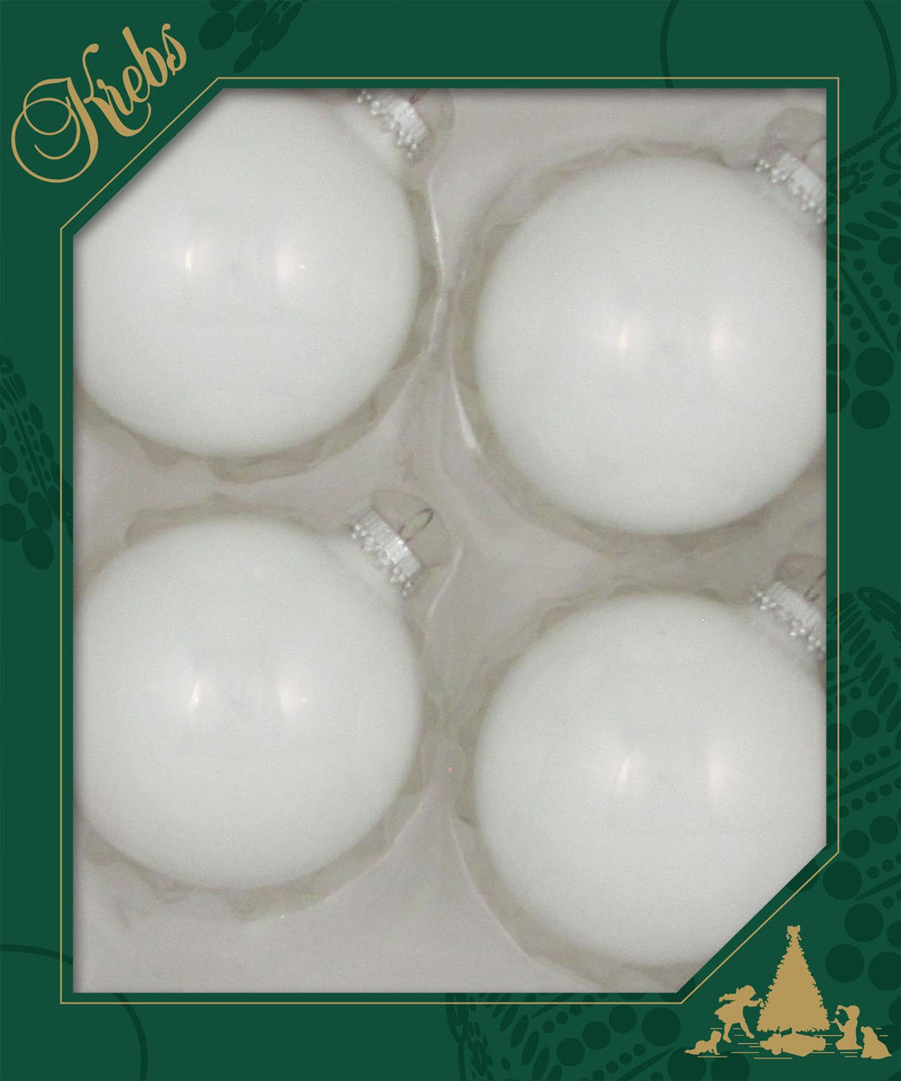 "3 1/4"" (80mm) Made in the USA Designer Seamless Glass Ball Christmas Ornaments"