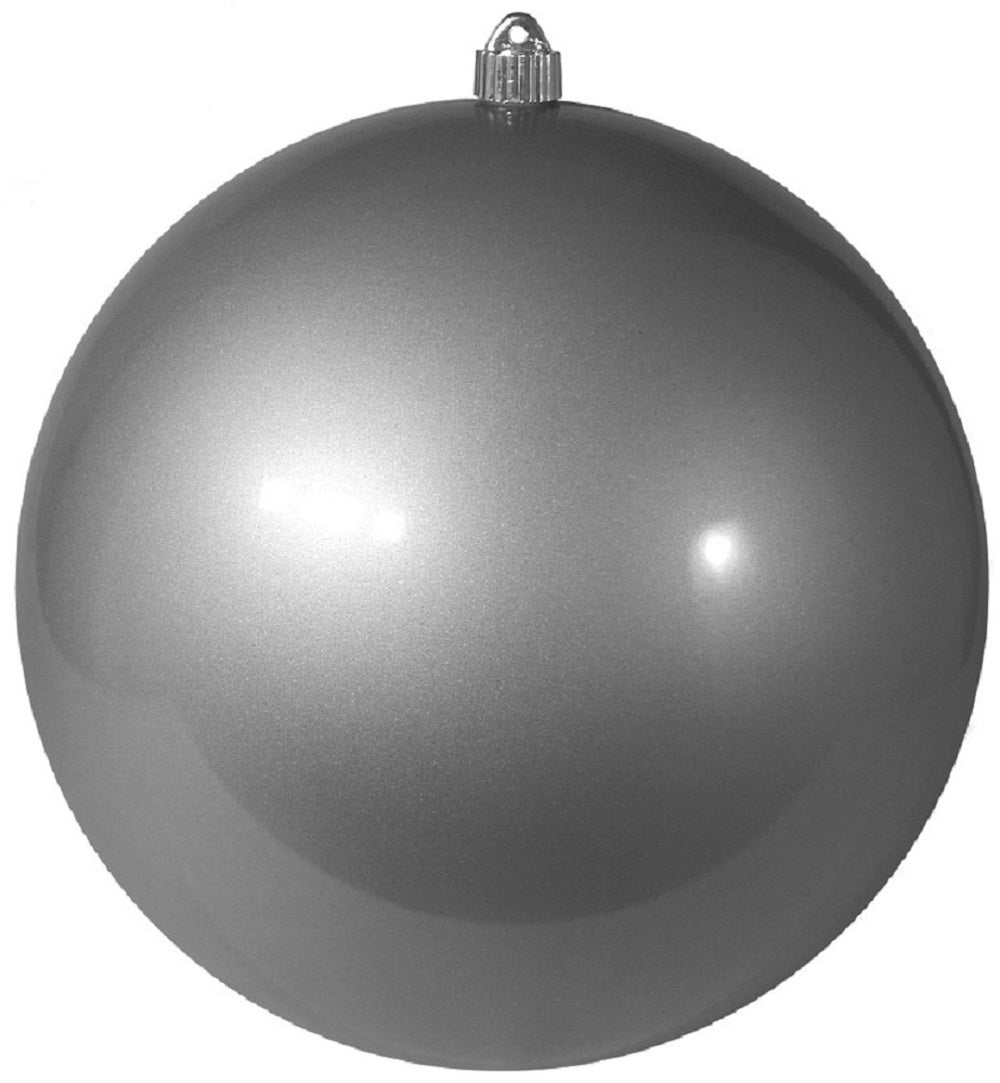 Candy Silver Round Shatterproof Large Christmas ornament