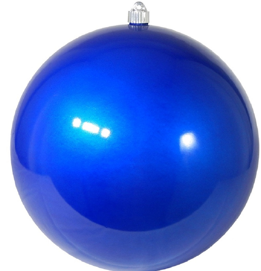 Candy Blue Round Shatterproof Large Christmas ornament