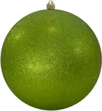 Green Glitter Round Shatterproof Large Christmas ornament