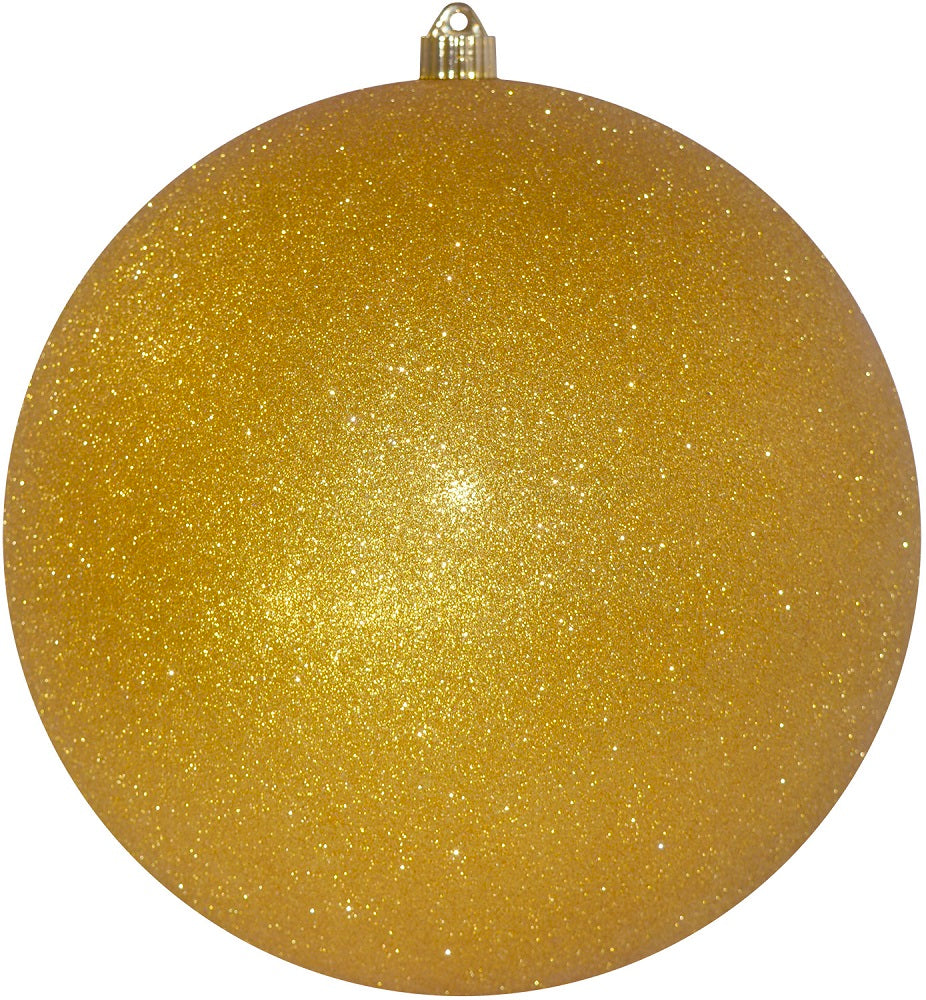 Gold Glitter Round Shatterproof Large Christmas ornament