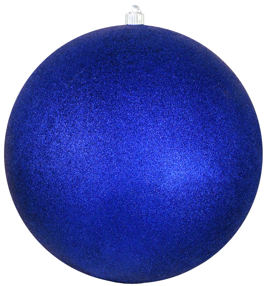 Dark Blue Round Shatterproof Large Christmas ornament