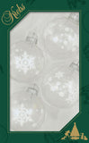 "2 5/8"" (67mm) Designer Decorated Boxed Glass Christmas Ornaments"