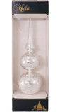 Krebs Designer Glass Tree Topper with Glitterlace