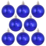 "8 Pack -3 1/4"" (80mm) Commercial Grade Indoor Outdoor Shatterproof Plastic Ball Ornaments"