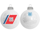 "Personalized Coast Guard 3.25"" Military Glass Ornament"