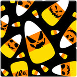 "[Set of 4] 4"" Premium Absorbent Ceramic Square Halloween Party Coaster - Monster Candy Corn"