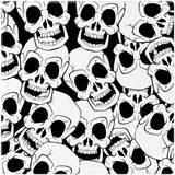 "[Set of 4] 4"" Premium Absorbent Ceramic Square Halloween Party Coaster - Skull Pattern"