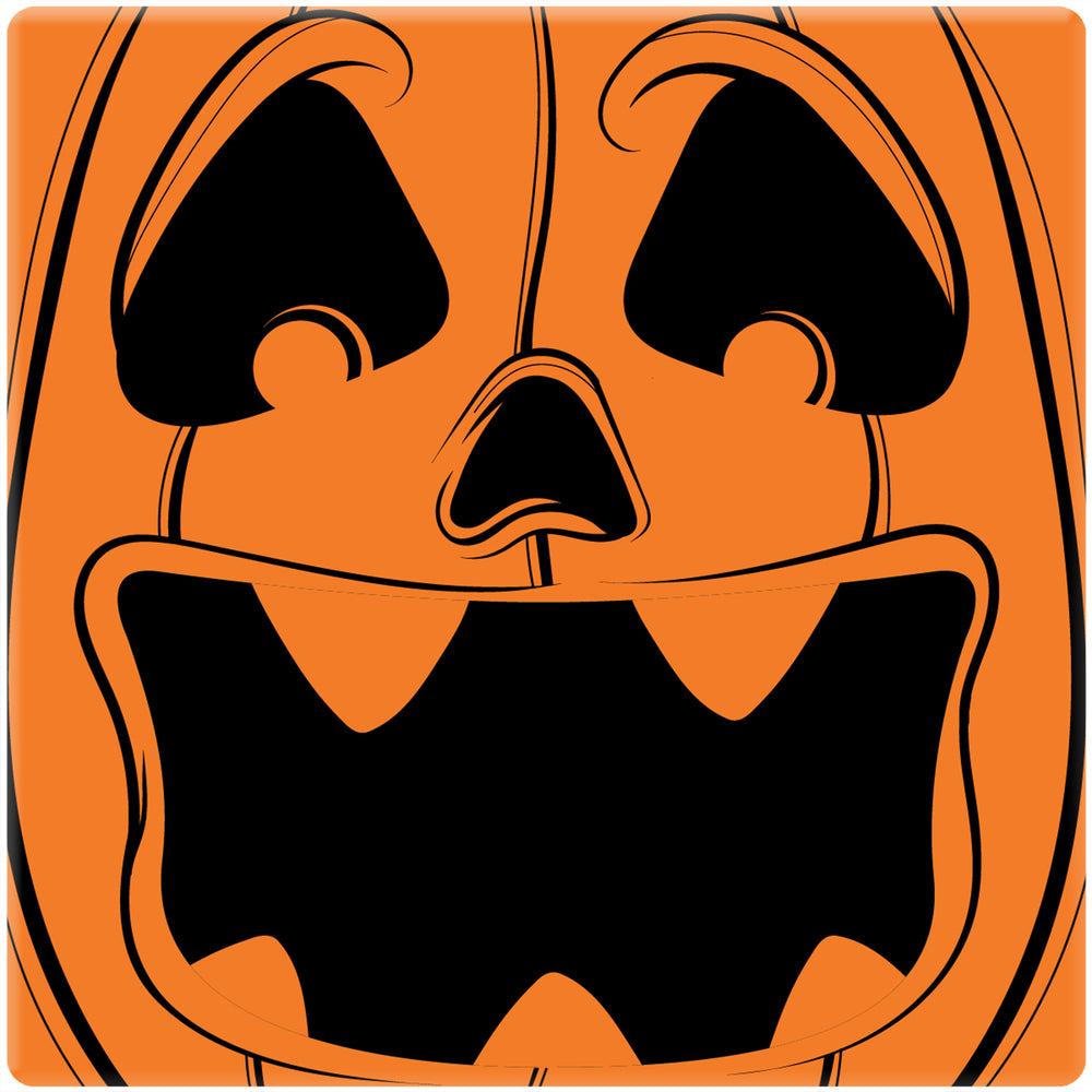 "[Set of 4] 4"" Premium Absorbent Ceramic Square Halloween Party Coaster - Pumpkin Head"