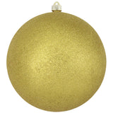 Gold Glitter Shatterproof Large Christmas Ornaments