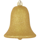 gold glitter Bell large Christmas ornament