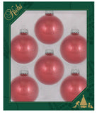 "6 Pack - 2 5/8"" (67mm) Made in the U.S.A Designer Sparkle and Spangle Glass Ornaments"