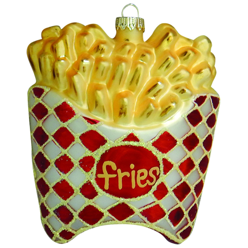 French Fries Figural glass ornaments