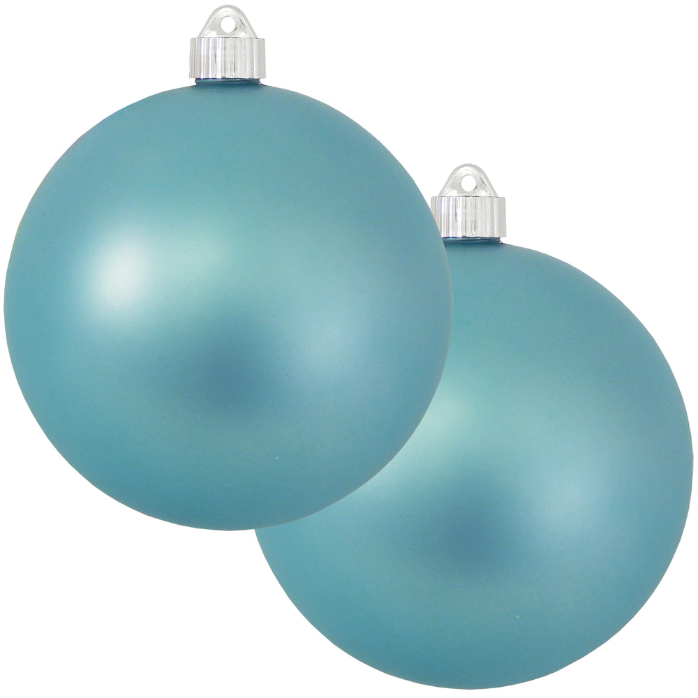 "2 Pack - 6"" (150mm) Matte Finish Commercial Grade Indoor Outdoor Shatterproof Plastic Ball Ornaments"