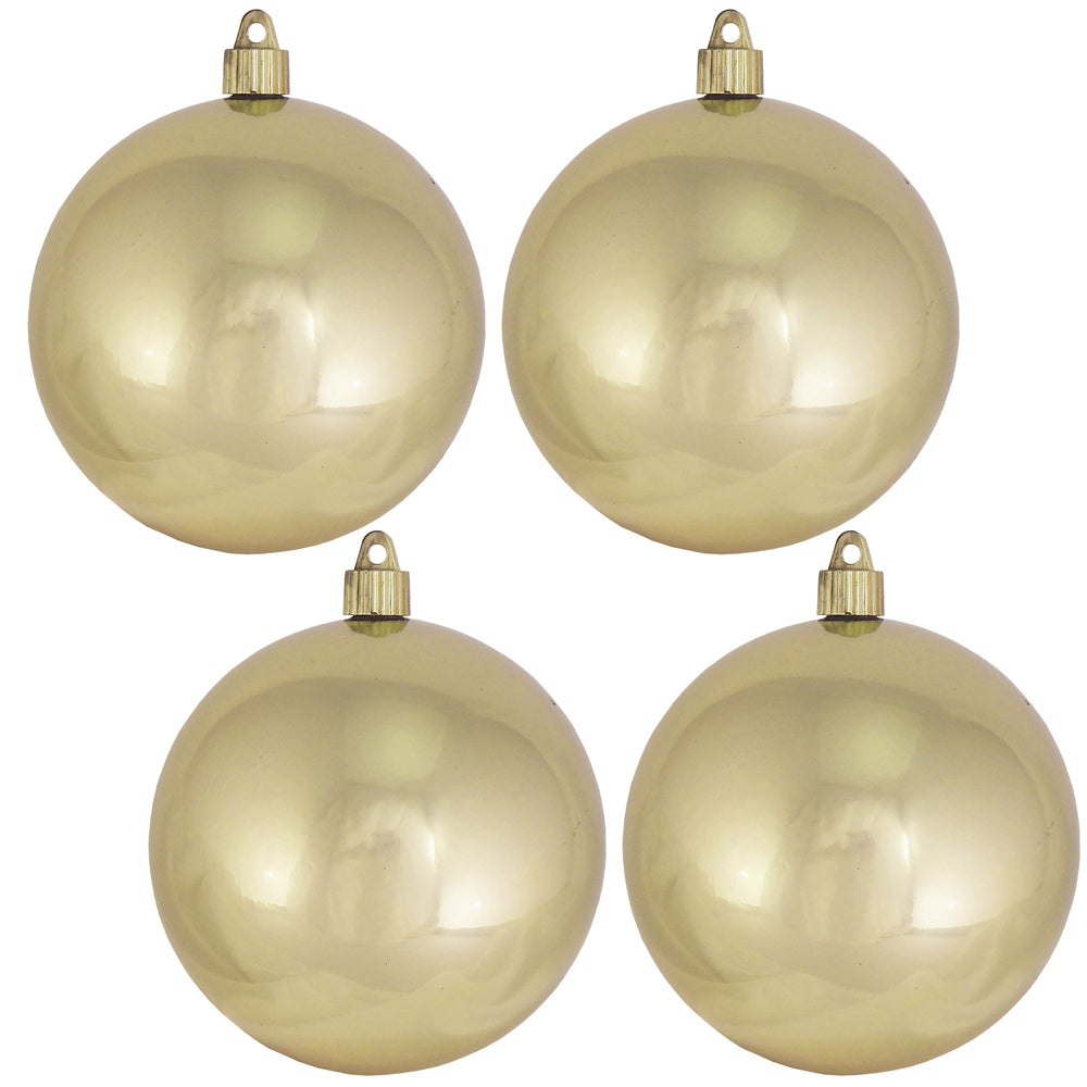 "[4 Pack] 4 3/4"" (120mm) Shiny Finish Commercial Grade Shatterproof Ball Ornaments"