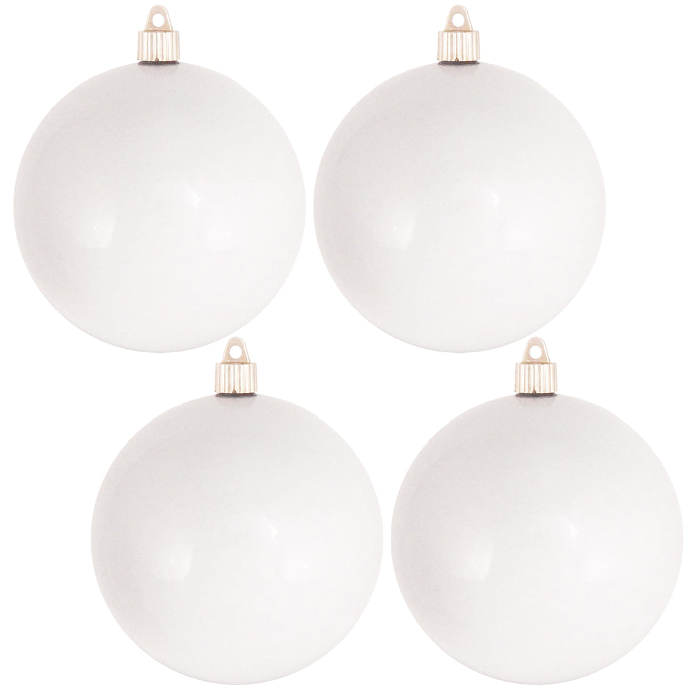 "4 Pack - 4 3/4"" (120mm) Matte Finish Commercial Grade Shatterproof Ball Ornaments"