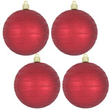 "[4 Pack] 4 3/4"" (120mm) Decorated Shatterproof Ball Ornaments"