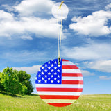 "3.5"" Round Glass Suncatcher with USA Flag"