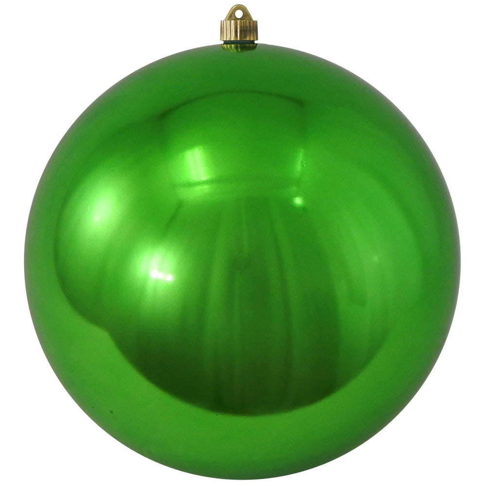 shiny green round shatterproof large christmas ornaments