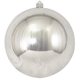 Silver Shatterproof Large Christmas Ornaments