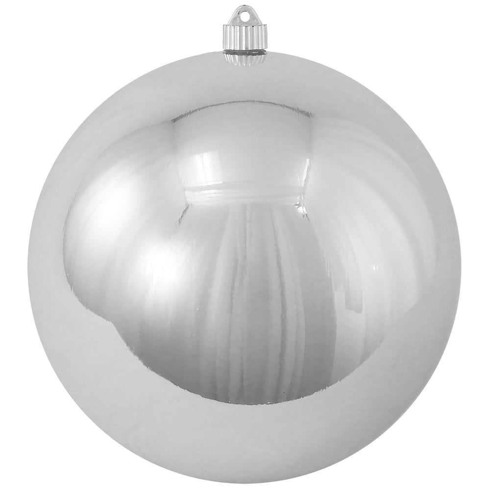 silver round shatterproof large christmas ornaments