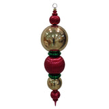 "Red, Gold and green 38"" Multipiece Finial Shatterproof Large Christmas Ornament"