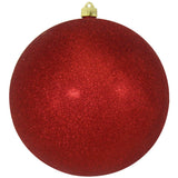 Red Glitter Shatterproof Large Christmas Ornaments