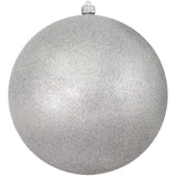 Silver Glitter Round Shatterproof Large Christmas ornament