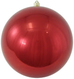 Shiny Red Shatterproof Large Christmas Ornaments