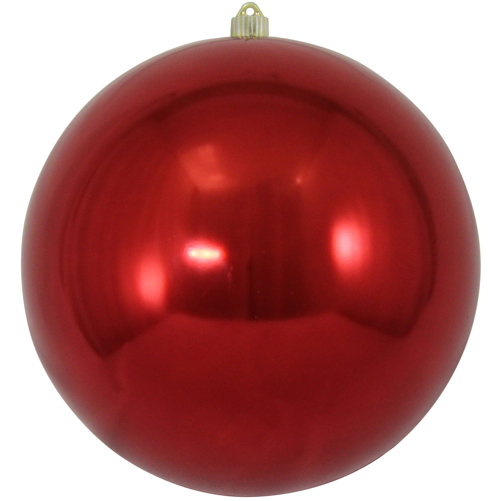 Shiny red round shatterproof large christmas ornaments