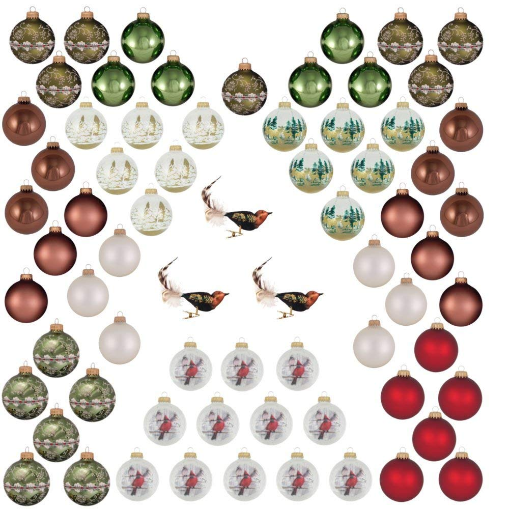 Woodland themed glass ornaments decorating kit