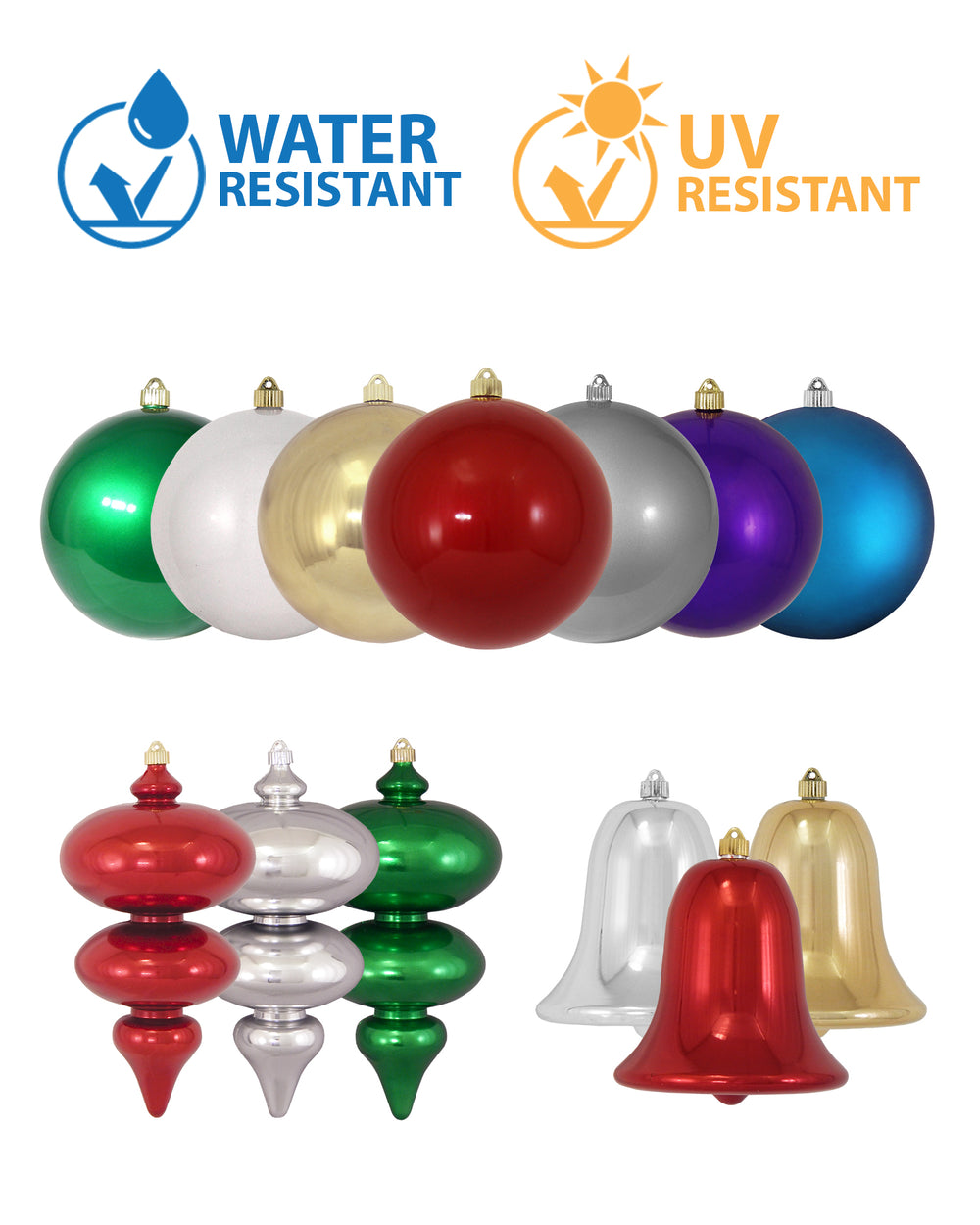"12"" (300mm) C9 Light Bulb Shaped Shatterproof Large Christmas Ornament"