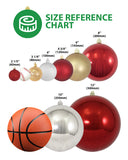 "8"" (200mm) Reflector Onion Shatterproof Large Christmas Ornaments"