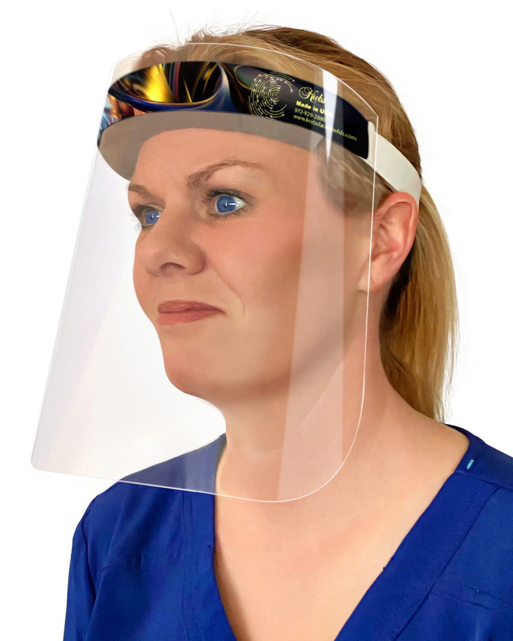 6-Pack Lightweight Safety Face Shields - Anti-Fog, Anti-Static, Hypoallergenic
